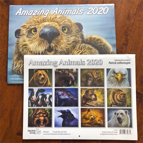 2020 Animal Calendar 2020 Calendar & New Prints   LaMontagne Art